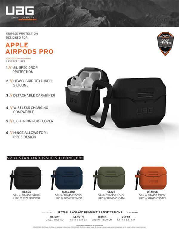Vỏ Ốp Airpods Pro UAG Silicone V2