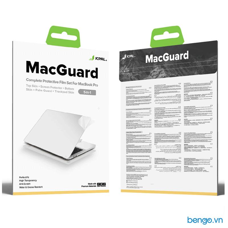 """Bộ dán Full JCPAL MacGuard 5 in 1 cho Macbook Pro 13"""" 2020"""
