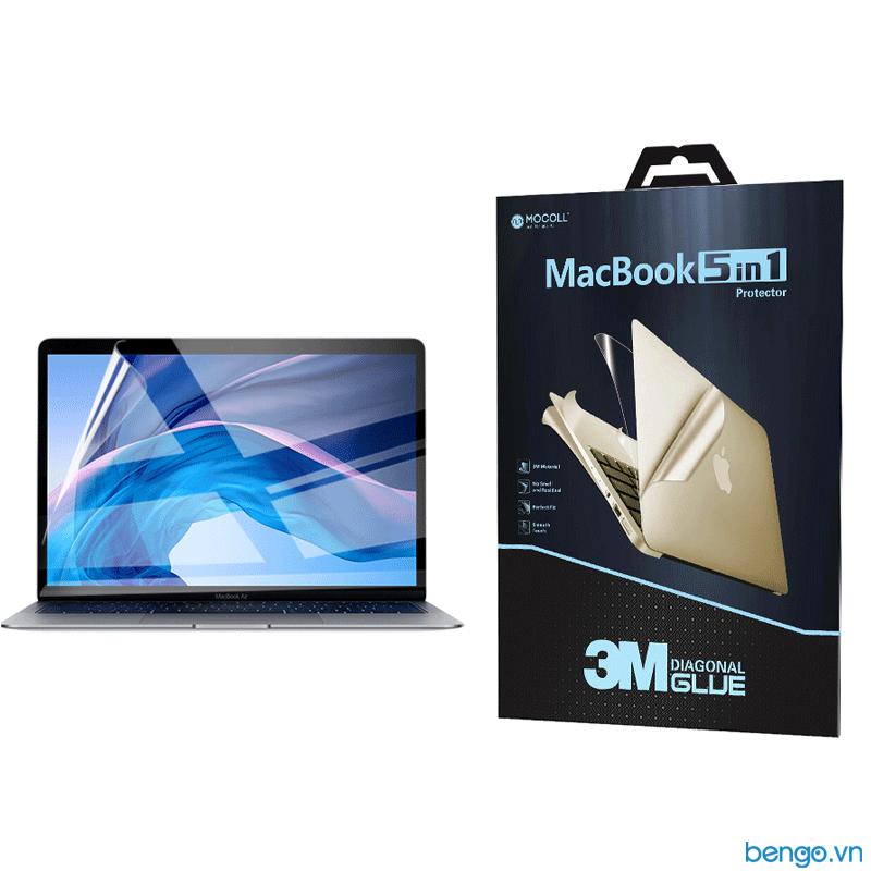 "Bộ dán Full MOCOLL 5 in 1 cho MacBook Air 13"" 2020"