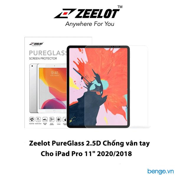 "Dán cường lực iPad Pro 11"" 2020/2018 Zeelot PureGlass 2.5D Clear"