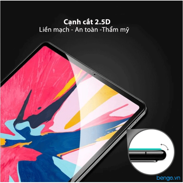 "Dán cường lực iPad Pro 12.9"" 2020/2018 Zeelot PureGlass 2.5D Clear"
