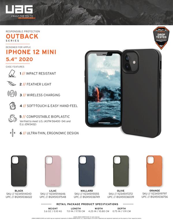 Ốp lưng iPhone 12 Mini UAG Outback Bio Series