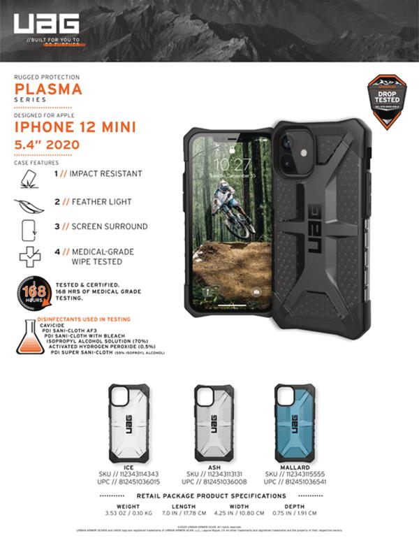 Ốp lưng iPhone 12 Mini UAG Plasma Series