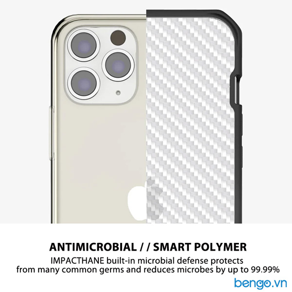 Ốp lưng iPhone 12 Mini ITSKINS Hybrid // Tek Antimicrobial
