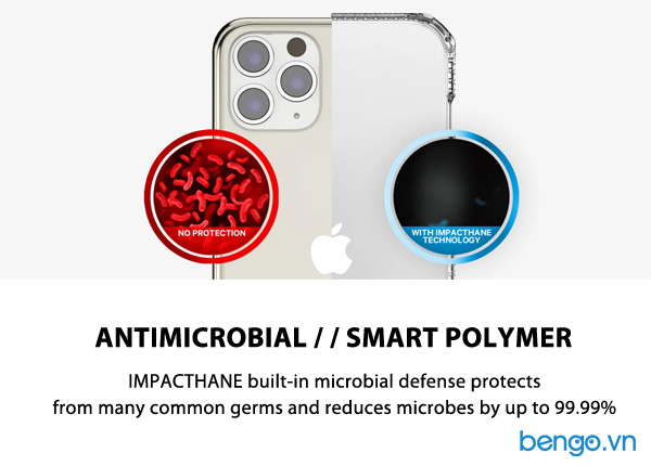 Ốp lưng iPhone 12 Mini ITSKINS Spectrum // Clear Antimicrobial