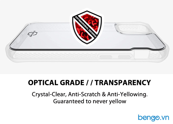 Ốp lưng iPhone 12 Mini ITSKINS Supreme // Clear Antimicrobial