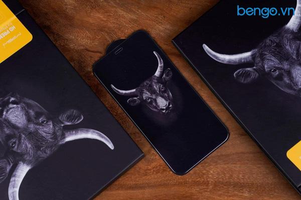 Dán cường lực iPhone 12 Pro Max MIPOW Kingbull HD (2.7D) Premium chống vân tay