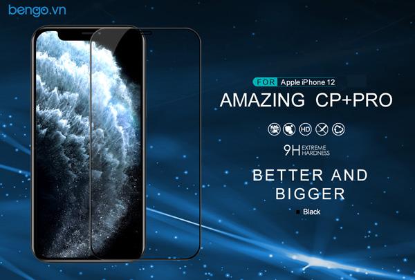 Dán cường lực iPhone 12 Pro/iPhone 12 Nillkin CP+ Pro Full keo màn hình