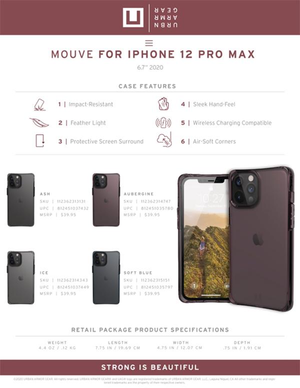 [U] Ốp lưng UAG Mouve iPhone 12 Pro Max
