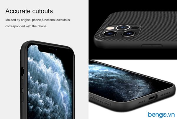 Ốp lưng iPhone 12/iPhone 12 Pro Nillkin sợi tổng hợp (Synthetic Fiber)