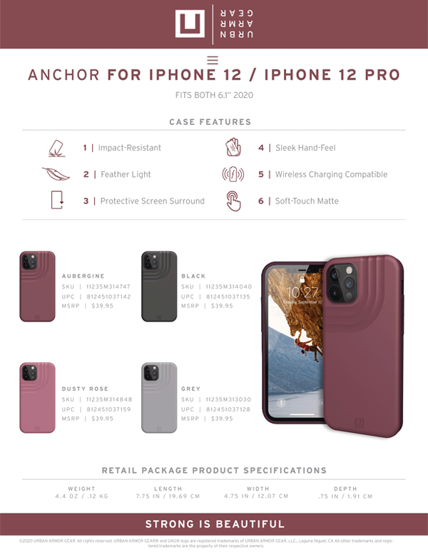 [U] Ốp lưng UAG Anchor iPhone 12/iPhone 12 Pro
