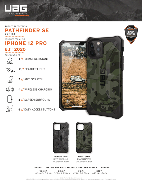 Ốp lưng iPhone 12/iPhone 12 Pro UAG Pathfinder SE Series