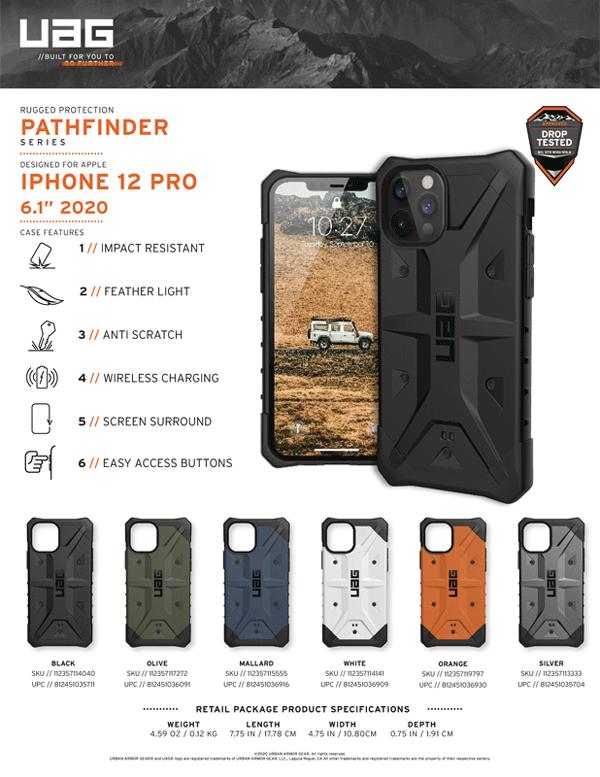 Ốp lưng iPhone 12/iPhone 12 Pro UAG Pathfinder Series