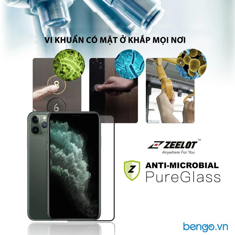 Dán cường lực Zeelot PureGlass Full Nano Bạc Kháng Khuẩn iPhone 11/11 Pro/11 Pro Max