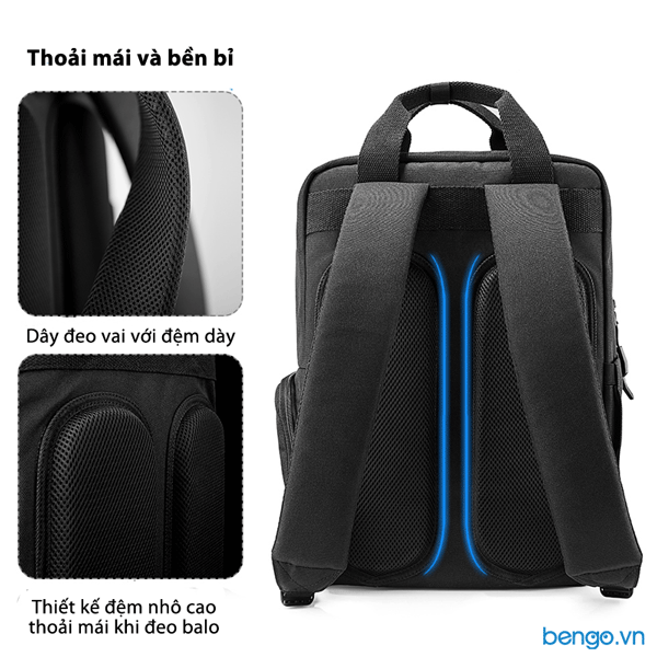 "Balo Tomtoc (USA) DAILY Backpack Ultrabook 15"" – A60-E01"