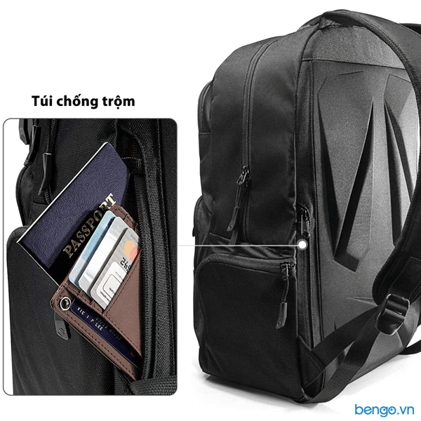 "Balo Tomtoc (USA) Travel Backpack Ultrabook 15.6"" - A77-E01"