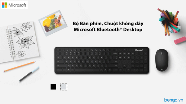 Bộ Bàn phím, Chuột không dây Microsoft Bluetooth Desktop