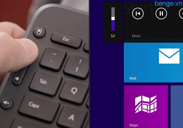 Bàn phím không dây Wireless Microsoft All-in-One Media