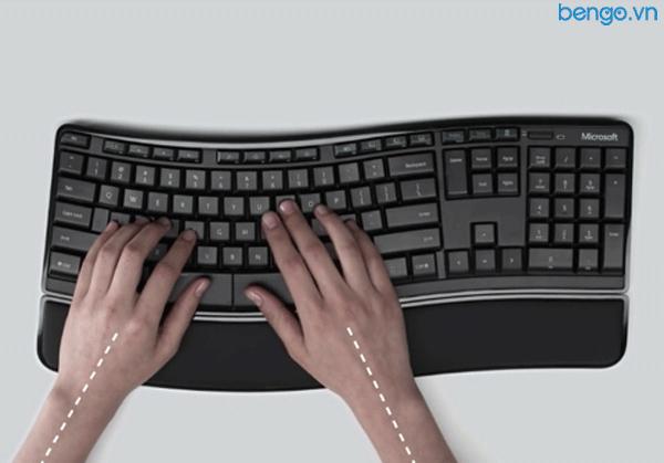 Bộ bàn phím, chuột không dây Microsoft Sculpt Comfort Desktop