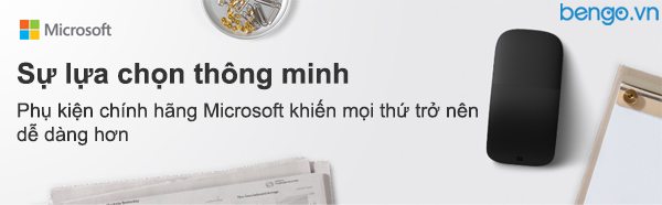 Chuột không dây Bluetooth Microsoft Arc Mouse