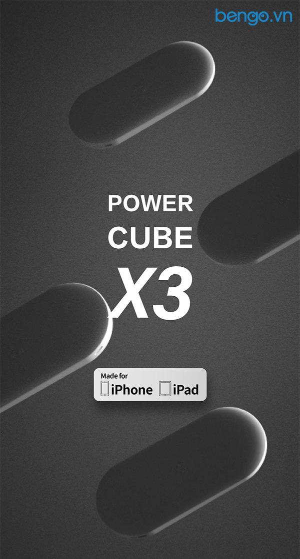 MIPOW Power Cube X3 10000mAh Lightning MFI PD 18W - SPQ09
