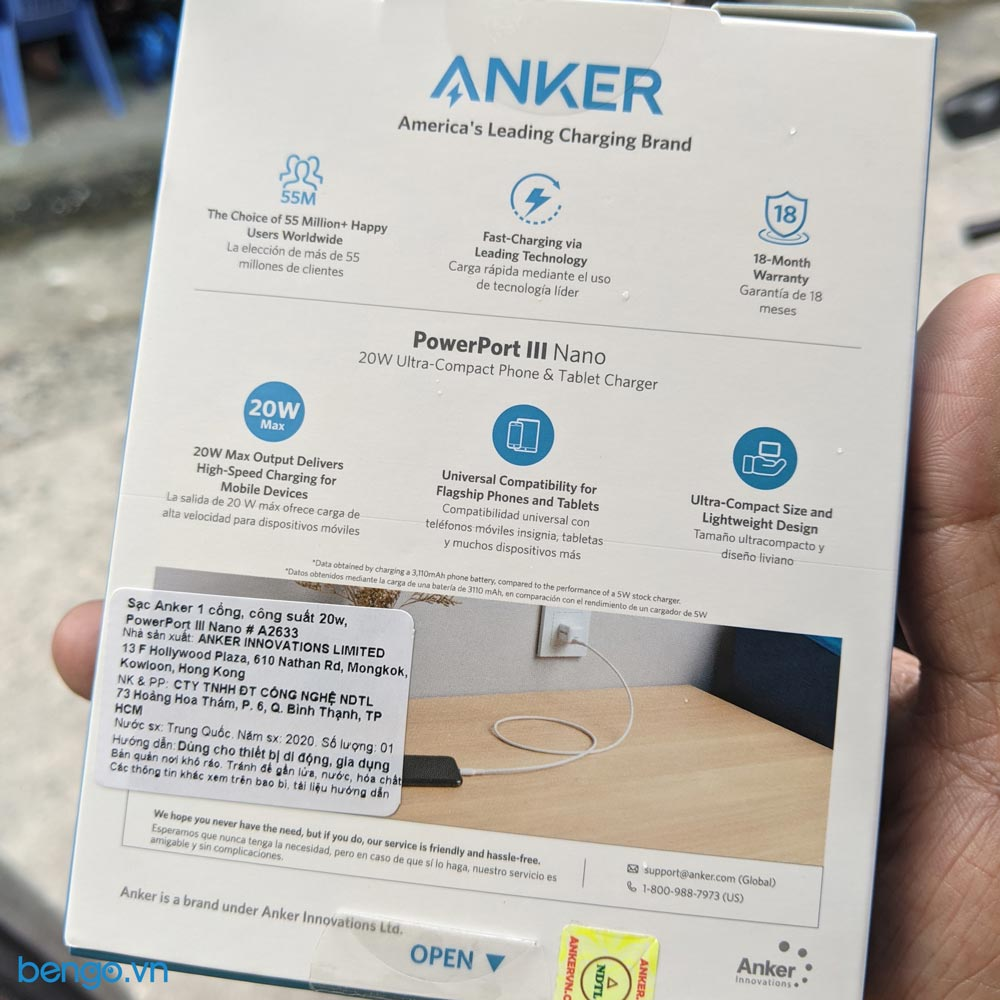 sạc nhanh Anker A2633