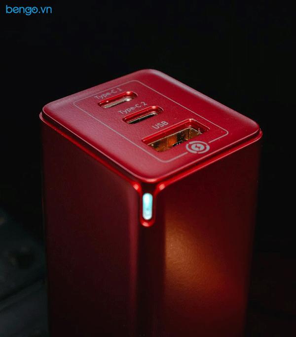 Sạc Baseus GaN Mini Quick Travel Charger 65W kèm Cáp USB-C to USB-C 1m tích hợp chip e-mark 100W