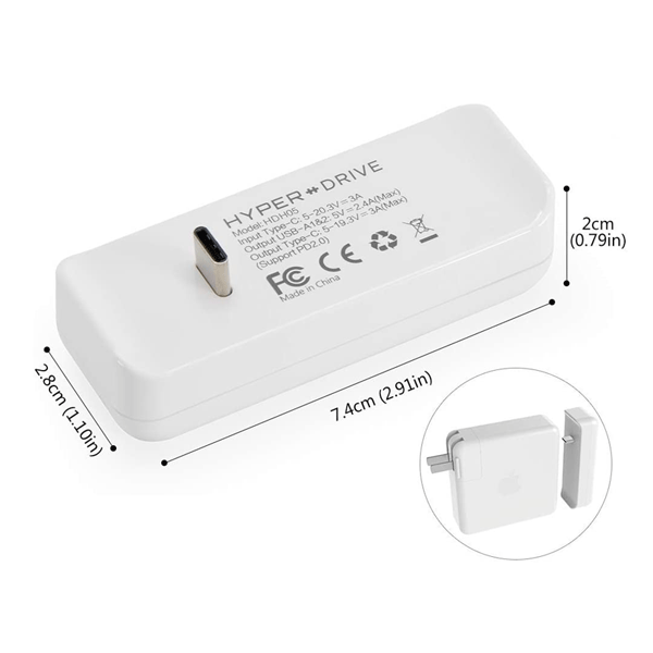 Sạc kiêm Hub HyperDrive USB-C cho MacBook 61W Power Adapter – HDH05