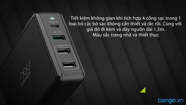 Sạc đa cổng Macbook Innostyle Gomax Pro 80W USB-C PD 65W - IC80-4PD