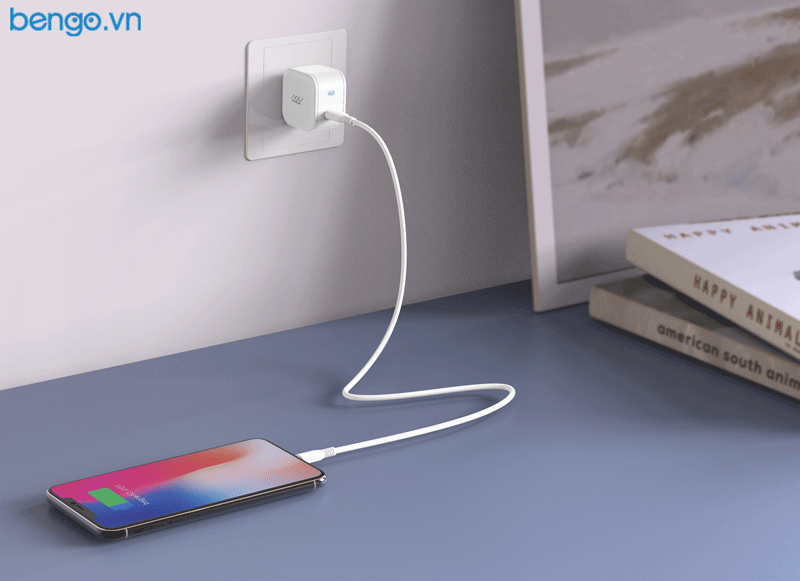 [Combo] Sạc Innostyle USB-C 18W + Cáp JAZZY USB-C to Lightning 1.2m MFI