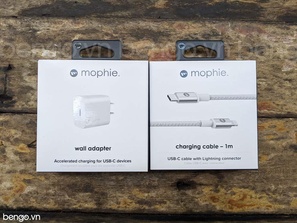 [Combo] Sạc USB-C 18W và Cáp sạc USB-C to Lightning 1m MFI MOPHIE