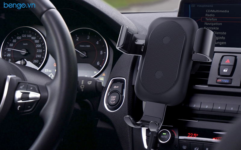 Bộ giá đỡ kiêm sạc nhanh không dây HyperJuice 15W Car Charger - HJ249D