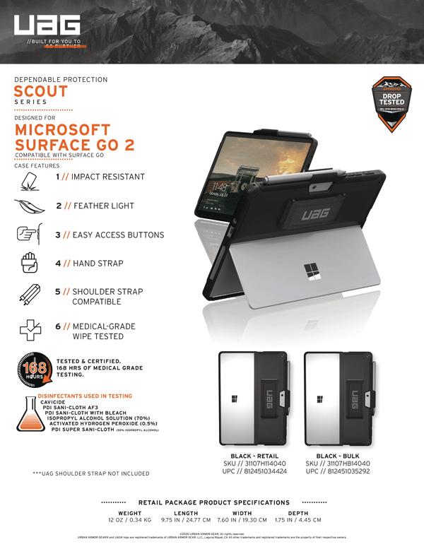 Ốp lưng Microsoft Surface Go 2 UAG Scout With Handstrap