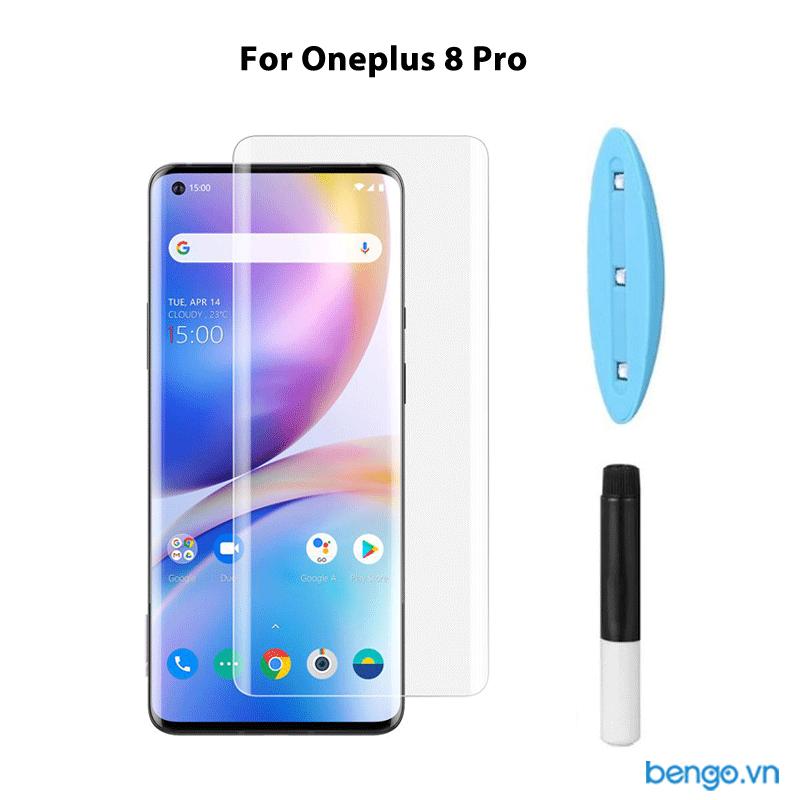 Dán màn hình cường lực Oneplus 8 Pro 3D full keo UV