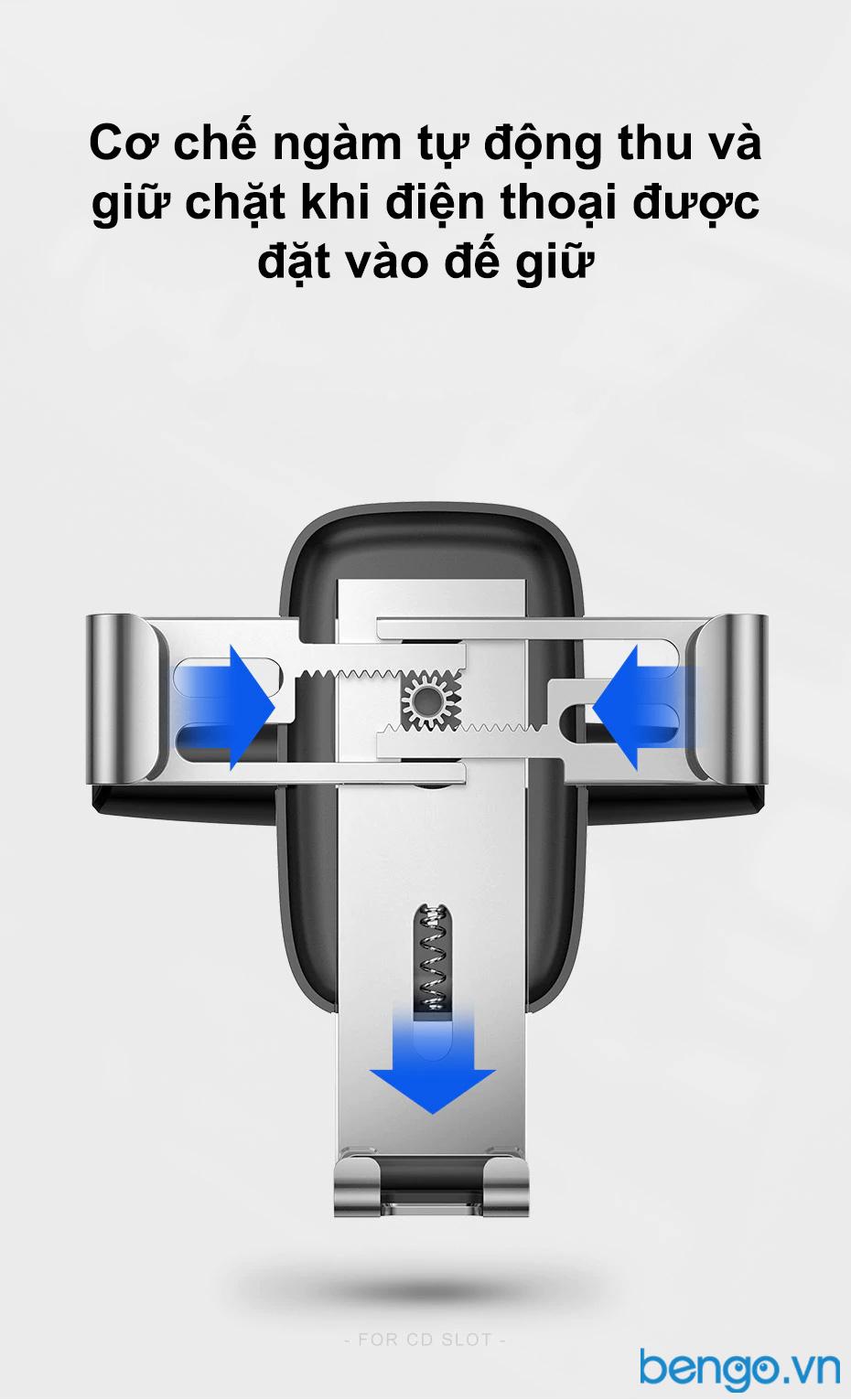 Baseus Metal Age Gravity Car Mount CD Version