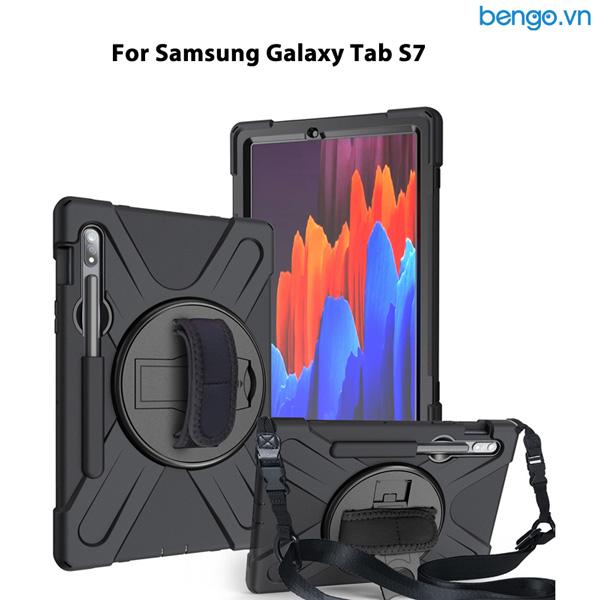 Ốp lưng Samsung Galaxy Tab S7 chống sốc dựng máy có dây đeo vai và tay