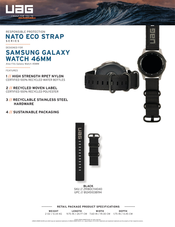 Dây đeo Samsung Galaxy Watch 46mm UAG NATO Eco Series