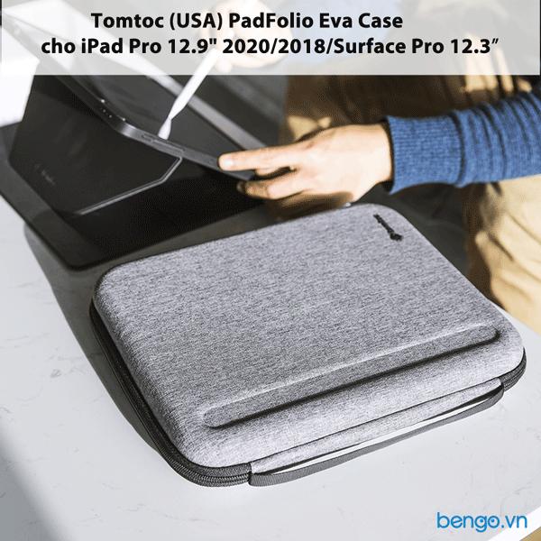"Túi chống sốc iPad Pro 12.9"" 2020/2018/Surface Pro 12.3″ Tomtoc (USA) PadFolio Eva Case - A06-004"