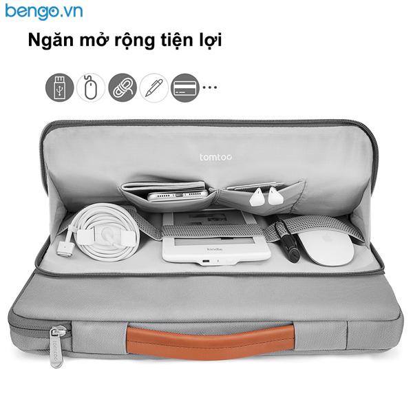 "Túi xách chống sốc Laptop 15.6"" TOMTOC (USA) Briefcase"